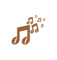 music coffee logo icon design vector image vector image