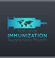 national immunization awareness month logo icon vector image