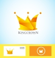 Orange crown 3d logo vector image vector image