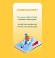 ordering groceries online isometric flyer template vector image vector image