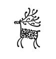 ornate deer sketch for your design vector image vector image