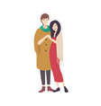 pair of young women wearing fashionable clothing vector image vector image