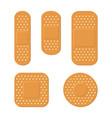 plaster bandage care set on white background vector image