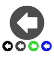 previous arrow flat icon vector image vector image