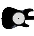 record guitar vector image vector image