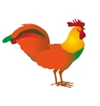 Rooster cock portrait cartoon vector image vector image