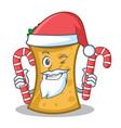 santa with candy kebab wrap character cartoon vector image vector image