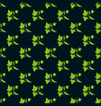 seamless pattern with cucumber vegetable on dark vector image