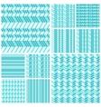 set geometrical seamless flat pattern vector image vector image