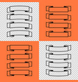 set of isolated banner ribbons on orange and vector image vector image