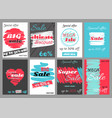 set of super sale discount coupons vector image