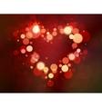 Shiny heart bokeh light Valentines day vector image vector image