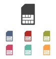 Sim card icons set vector image