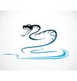 snake B vector image vector image