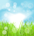 Spring bokeh background with grass vector | Price: 1 Credit (USD $1)
