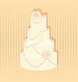 stylish wedding cake decorated vector image