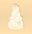 stylish wedding cake decorated vector image vector image