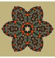 Stylized mandla flower Art vintage decorative vector image vector image