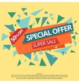 Super Sale special offer paper banner vector image vector image
