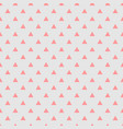 Tile pattern with pink triangles on grey vector image