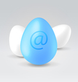 twitter blue egg vector image
