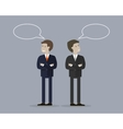 Two Businessman with Bubble Talk vector image vector image