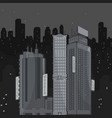 urban landscape at night vector image