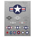 us military national aircraft star roundels vector image vector image