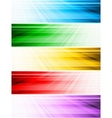 vector abstract style banners vector image vector image