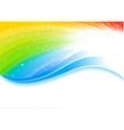 vector rainbow background vector image vector image