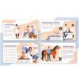veterinary clinic brochure vet center booklet vector image