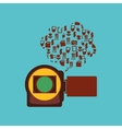 video camera design vector image vector image