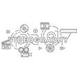 videography and videographer theme vector image