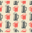 vintage beer glasses semless pattern vector image vector image