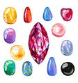 Watercolor gems collection vector image vector image
