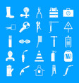 welder equipment icons set simple style vector image vector image