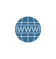 www and globe internet flat icon website browser vector image vector image