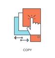 Copy Icon vector image