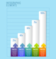 Infographic elements Modern business steps to vector image