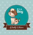 baby shower card invitation its a boy vector image