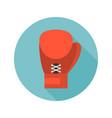 boxing glove icon flat design vector image