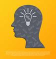 Human head with idea concept vector image