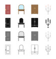 a door a piece of furniture a dressing table a vector image vector image