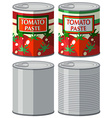 Aluminum can with and without label vector image vector image