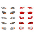 auto lights realistic collection vector image vector image