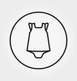 baby dress with panties overalls jumpsuit icon vector image