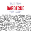 barbecue seamless border vector image vector image