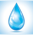 blue drop water isolated on white background vector image