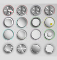 buttons reality volume control vector image vector image