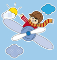 child plane vector image